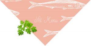 la cote menu set seafood