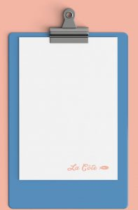 la cote menu top clipboard mobile