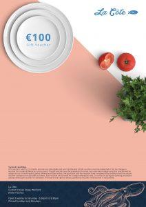 100 euro Gift Vouchers La Côte restaurant