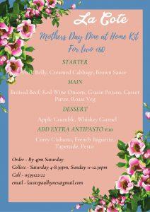 LaCote mothers day menu 2021