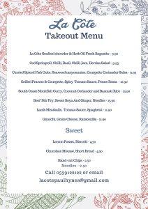 Lacote take out menu